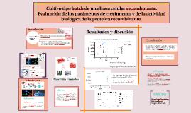 Cultivo tipo batch de una línea celular recombinante: Evalua