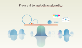 From uni to multidimensionality