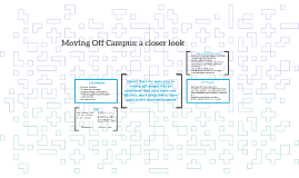 Moving Off Campus: a closer look