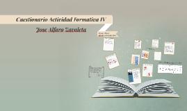 Cuestionario Actividad Formativa IV