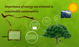 Importance of energy use oriented to sustainable consumption