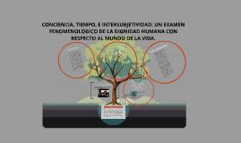 Copy of CONCIENCIA, TIEMPO, E INTERSUBJETIVIDAD: UN EXAMEN FENOMENOLÓGICO DE LA DIGNIDAD HUMANA CON RESPECTO AL MUNDO DE LA VIDA.