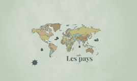 Copy of Les pays