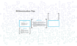 IB Examination Tips