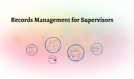 Records Management for Supervisors