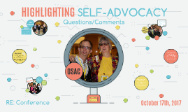 RE Conference Practicum: Self-Advocacy