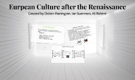 European Culture After the Renaissance