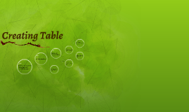 Copy of Creating Table
