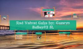 Camryn's Red Velvet Cake