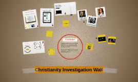 Christianity Investigation Wall