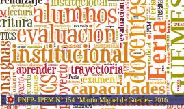 """Portafolio Institucional 2016 """" IPEM N° 154"""" - PNFP"""