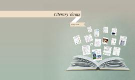 2015-2016  Literary Terms