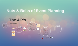 Nuts & Bolts of Event Planning