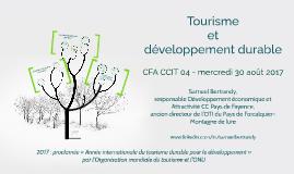 Tourisme et développement durable