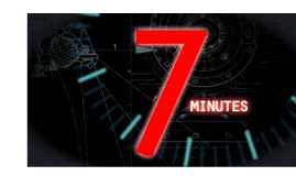 Our seven minutes is..............