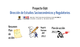 Plan de acción Proyecto 690. DESR 2013