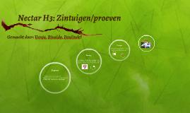Nectar H3: Zintuigen/proeven