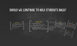 SHOULD WE CONTINUE TO HOLD STUDENTS BACK?