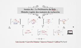 Années 80 : La Préhistoire du Web ...