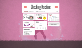 Checking Machine