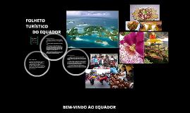 Folheto turístico do equador