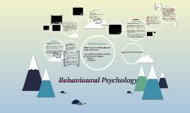 behavioural psychology