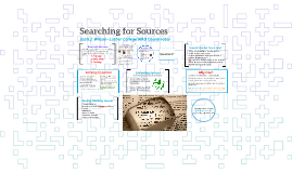 Searching for Sources