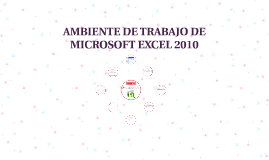 AMBIENTE DE TRABAJO DE MICROSOTF EXCEL 2010