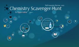 Chemistry Scavenger Hunt