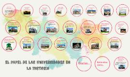 LAS UNIVERSIDADES EN LA HISTORIA