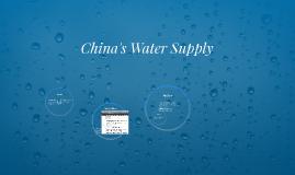 China's Water Supply