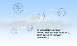 Copy of LA IMPORTANCIA DE LOS CONOCIMIENTOS PREVIOS PARA EL APRENDIZ
