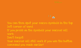 How to make macros