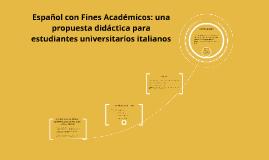 Español con Fines Académicos: una propuesta didáctica para e