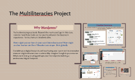 The Multiliteracies Project