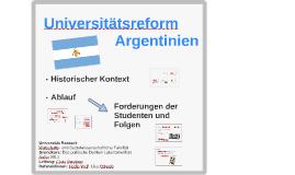 Universitätsreform Argentinien