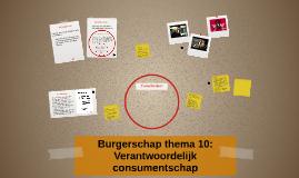Burgerschap thema 10: Verantwoordelijk consumentschap