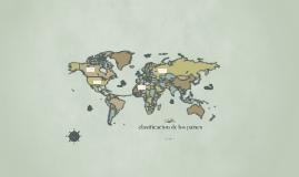 clasificacion de los paises