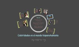 Celebridades en el Mundo Españoles