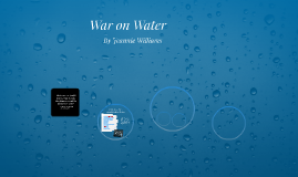 Water Presentation, Bottle verus Tap