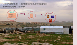 Obstruction of Humanitarian Asssistance and Foricble Transfe