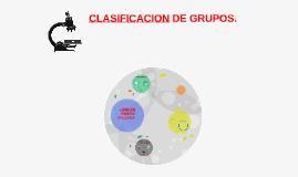 CLASIFICACION DE GRUPOS