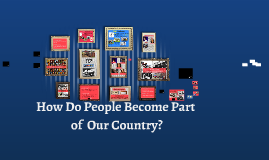 """Gr. 3 Immigration- """"How do People Become Part of Our Country?"""""""
