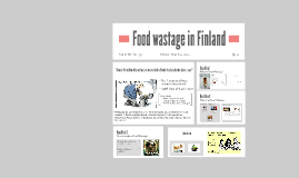 Food wastage in Finland