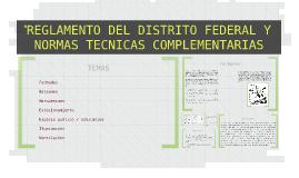 REGLAMENTO DEL DISTRITO FEDERAL Y NORMAS TECNICAS COMPLEMENT