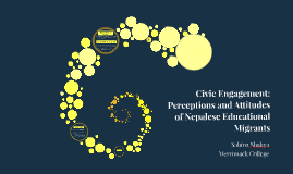 Civic Engagement: Perceptions and Attitudes of Nepalese Educ