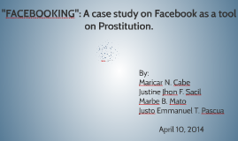 Facebook prostitution