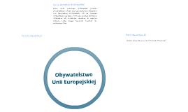 Obywatelstwo Unii Europejskiej
