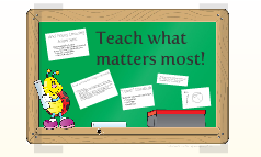 Teaching what matters most