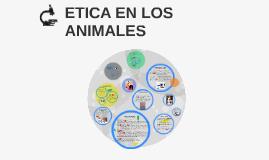 ETICA EN LOS ANIMALES